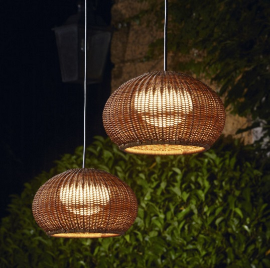 Garota - Hang (Solo Structure) ceiling lamp Outdoor without lampshade LED 9w Brown