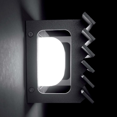 Lineana - H Wall Lamp Outdoor 9w G9 Graphite grey