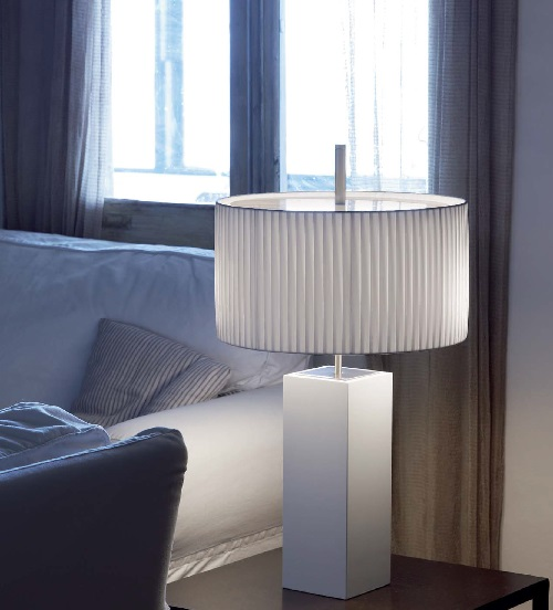 Mani - table (Solo Structure) Table Lamp without lampshade E27 46w Ní­quel beech Wengue