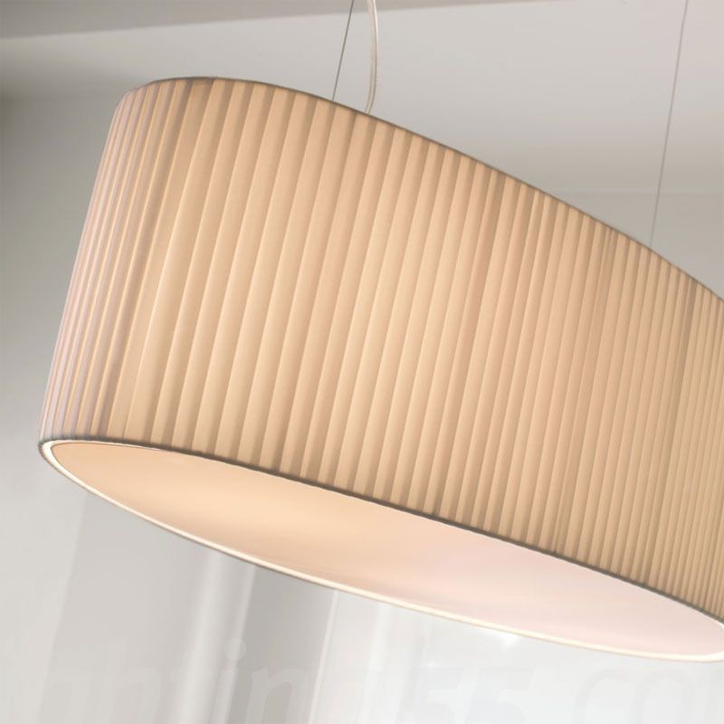 Mei - 100/oval (Solo Structure) Pendant Lamp without lampshade E27 11w Hierro Brown