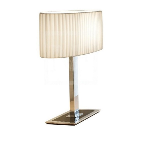 Mei oval - T2/USB (Solo Structure) Table Lamp without lampshade E27 1x46w Nickel Glass Black