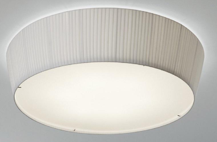 Plafonet - 03 Fonda Europa ceiling lamp E27 22w Inox-Cinta translucent white