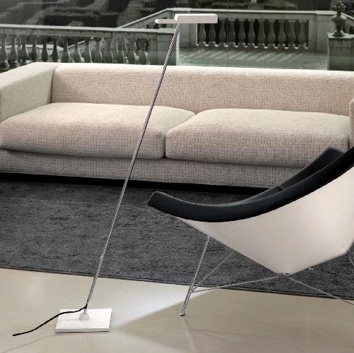 Spock - P Floor Lamp LED 3,6w Led Chrome white