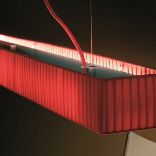 Tekno - LP 120 Lamp Pendant Lamp T5 39w Cinta translucent Roja