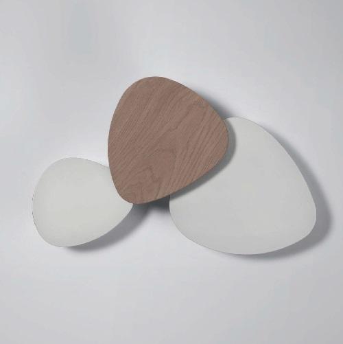 Tria - Set 3 Aplique LED 39w blanco Lacado Satinado