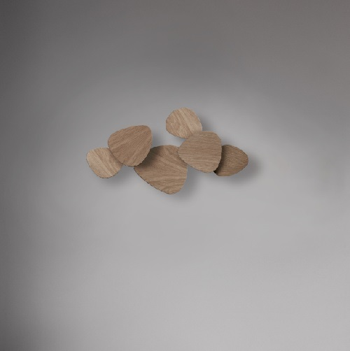 Tria - Set 6 Wall Lamp LED 69w oak Natural