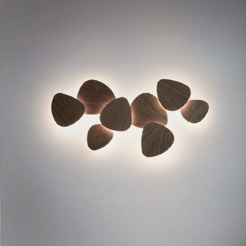 Tria - Set 8 Aplique LED 103,4w blanco Lacado Satinado