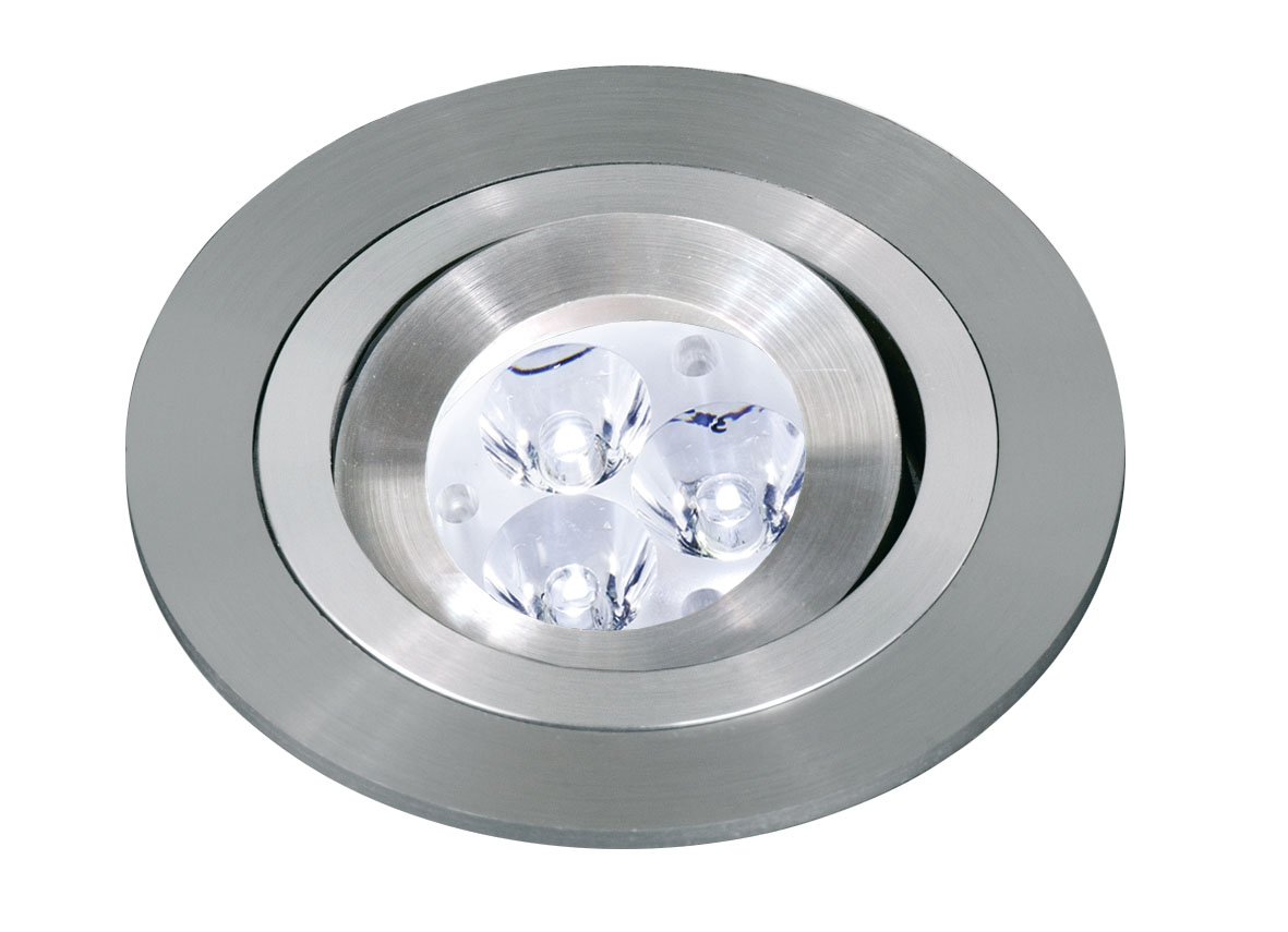3058 Recessed Round of MR11 Gu4 Aluminium