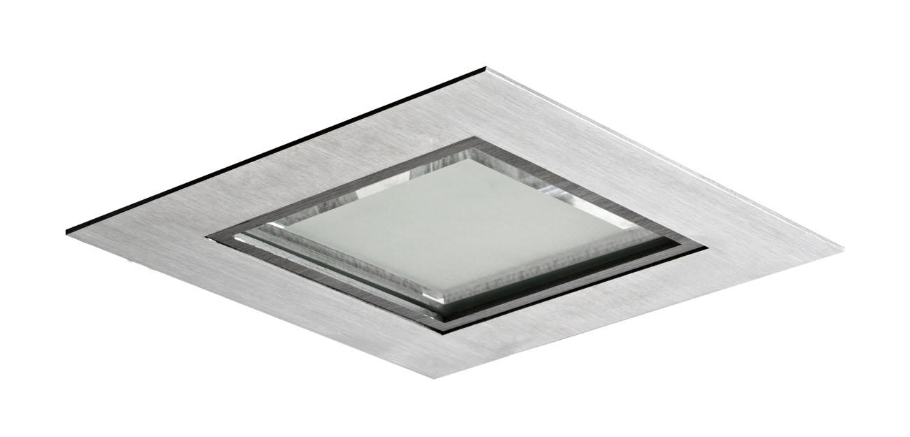 3100 Downlight Cuadrado 2x26W G24q-3 Aluminio