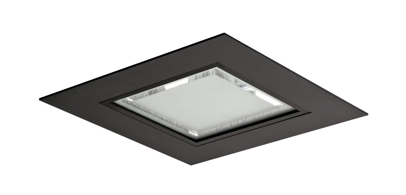 3101 Downlight Cuadrado 2x26W G24q-3 Aluminio negro