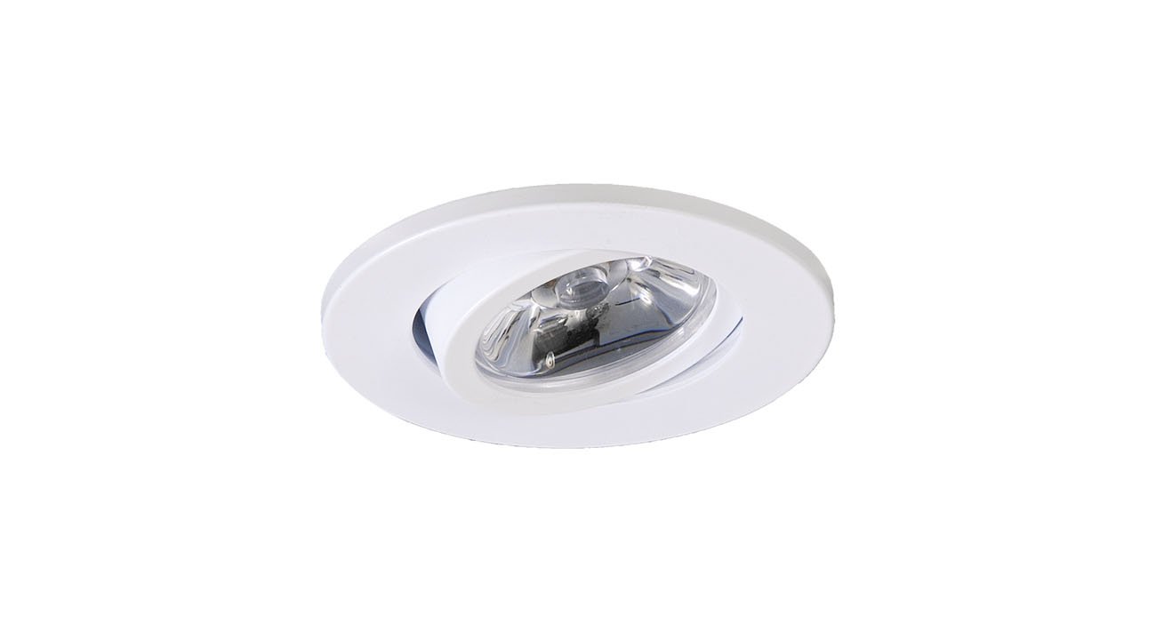 4258 Recessed Round of MR11 GU4 white matt