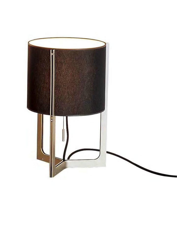 Nirvana Table Lamp ø25cm (mini) níquel Matt white lampshade