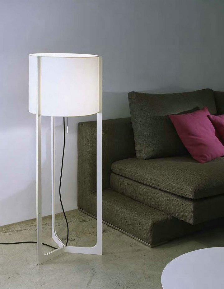 Nirvana lámpara of Floor Lamp ø40cm níquel Matt black lampshade