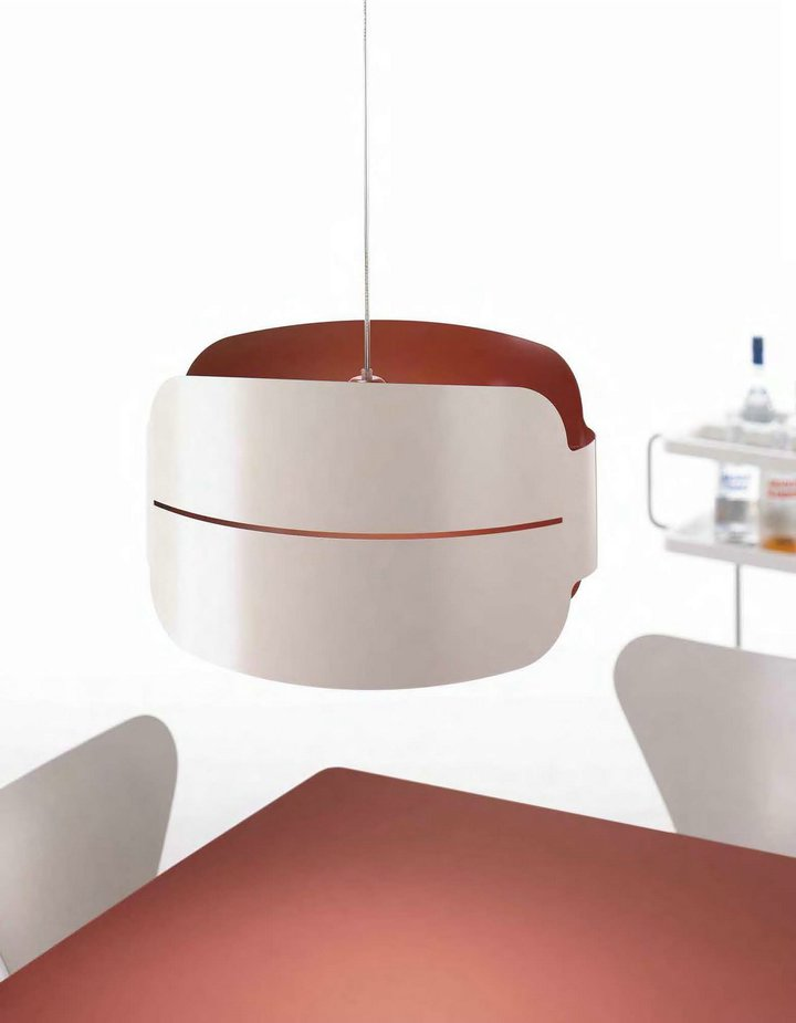 Irma Pendant Lamp 40cm without florón white/Teja