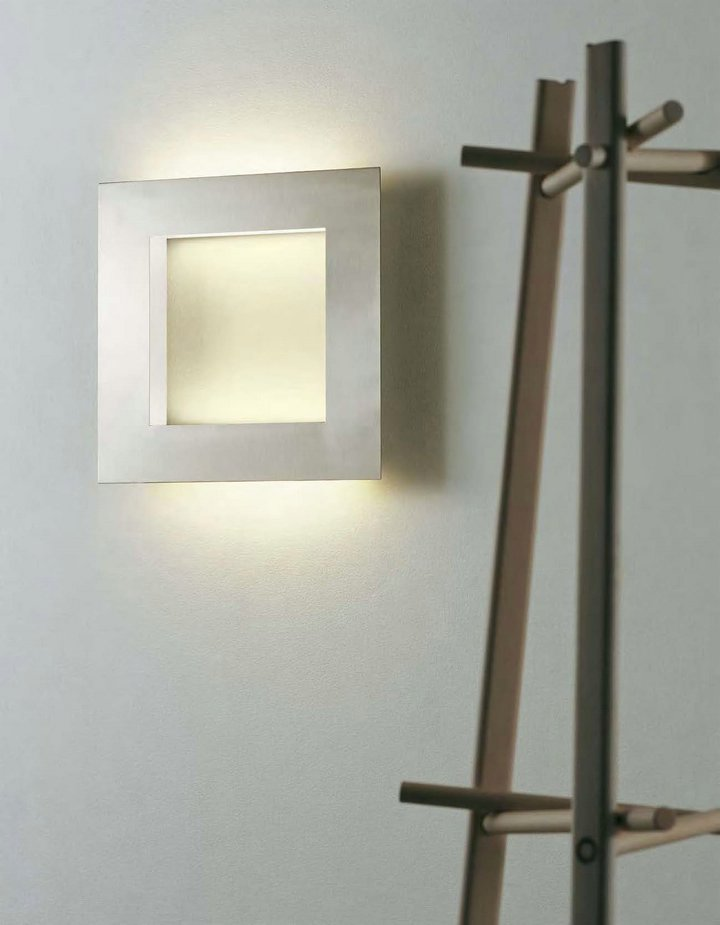 Hans Wall Lamp Square 41cm Black/white