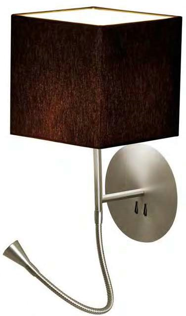 hotel Python Wall Lamp white lampshade round black