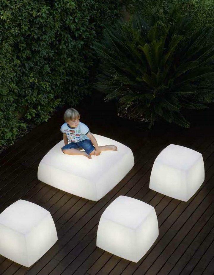 Lite cube asiento/lámpara white (calido 2700ºK)