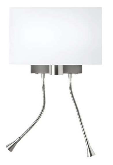 Weekend Wall Lamp Lacquered white 2 Flexos white lampshade