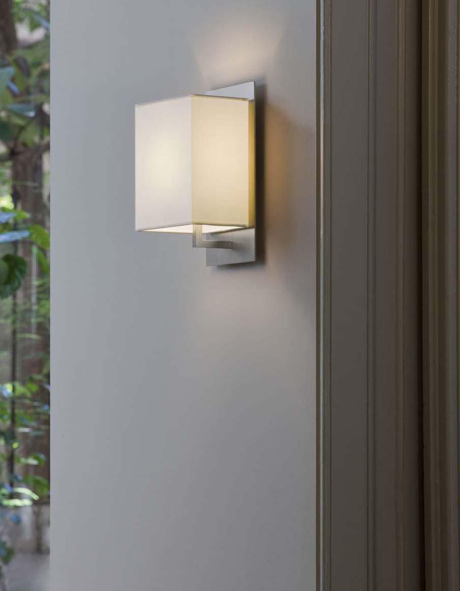 Mood Wall Lamp níquel Matt white lampshade