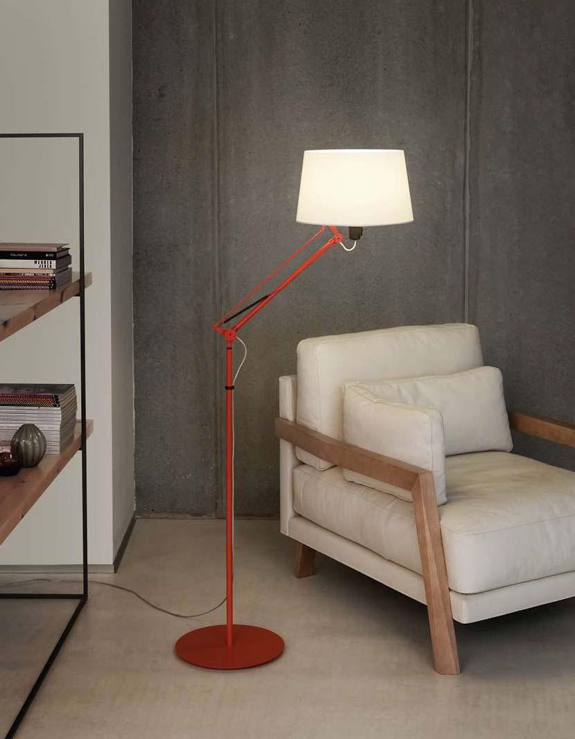 Lektor lámpara of Floor Lamp stone grey