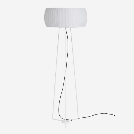 Isamu lámpara of Floor Lamp 160cm white lampshade