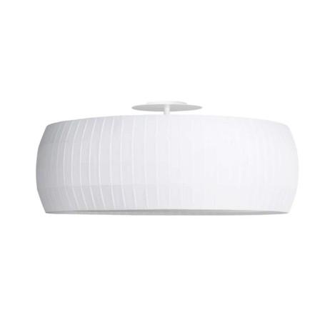 Isamu Plafón E27 2x100W ø53x30cm Metal lacado blanco y Pantalla encintada blanca