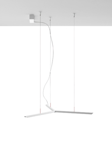 Lineal and Pendant Lamp ø80cm LED1x25W Nickel mate