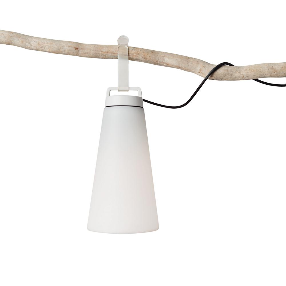 Sasha 1 Pendant Lamp /Pie Outdoor IP66 41cm 1x18w E27 White