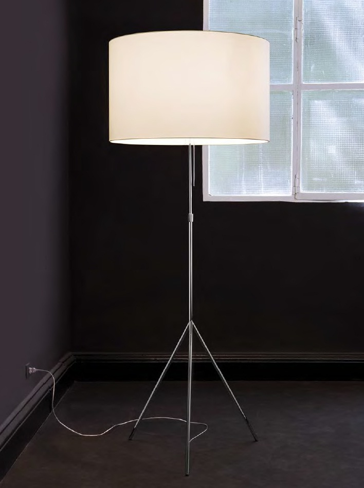 Signora L lámpara of Floor Lamp ø55cm white/white lampshade