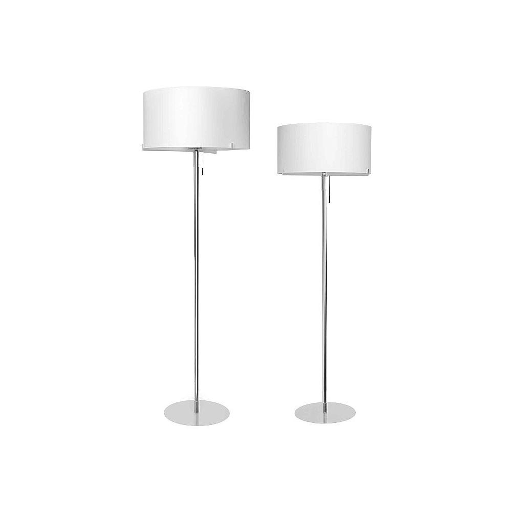 Aitana lámpara de Pie ø50cm plomo metalizado pantalla blanca