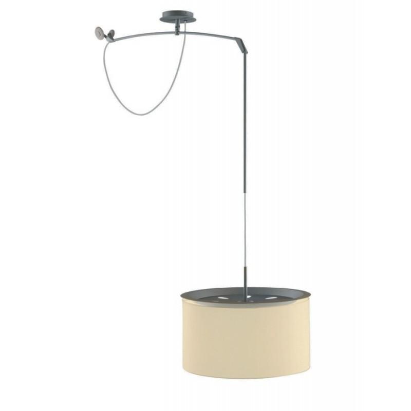 Finger Pendant Lamp movil ø38cm metallic lead lampshade Beige