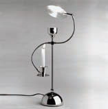 SERVOLUCE Table Lamp Nickel Satin