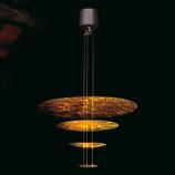 Sistema Macchina Della Luce Mod zu (4 Scheibes) ø80cm Pendelleuchte Gold