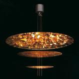 Sistema Macchina Della Luce Mod C (3 Scheibes) ø120cm Pendelleuchte Gold