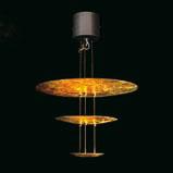 Sistema Macchina Della Luce Mod E (3 Discs) ø50cm Pendant Lamp Gold
