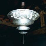 Sistema Macchina Della Luce Mod F (4 Discs) ø120cm Pendant Lamp Gold