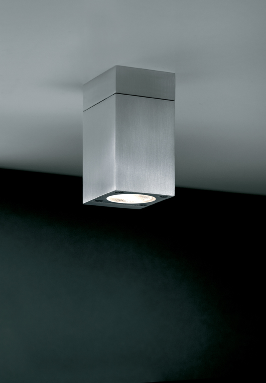 Blok C ceiling lamp Outdoor led, Aluminium Satin