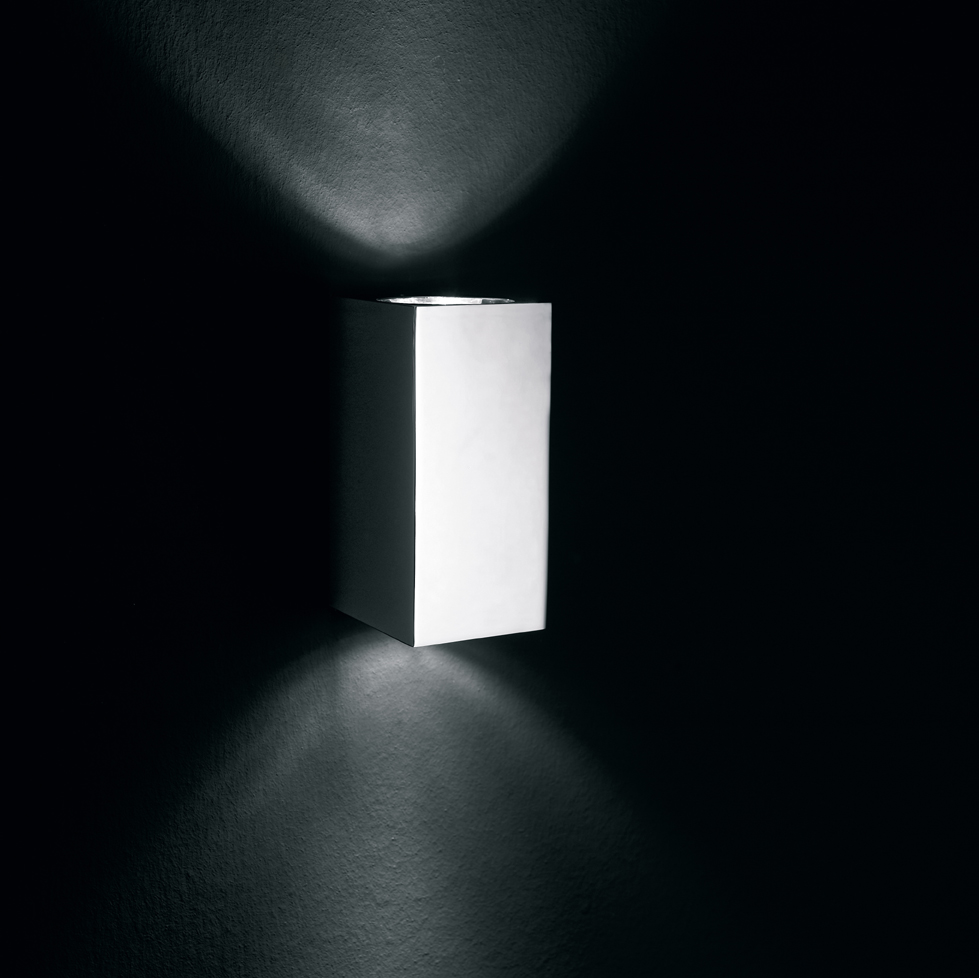 Blok W 15 Wall Lamp Outdoor Aluminium Satin two luces
