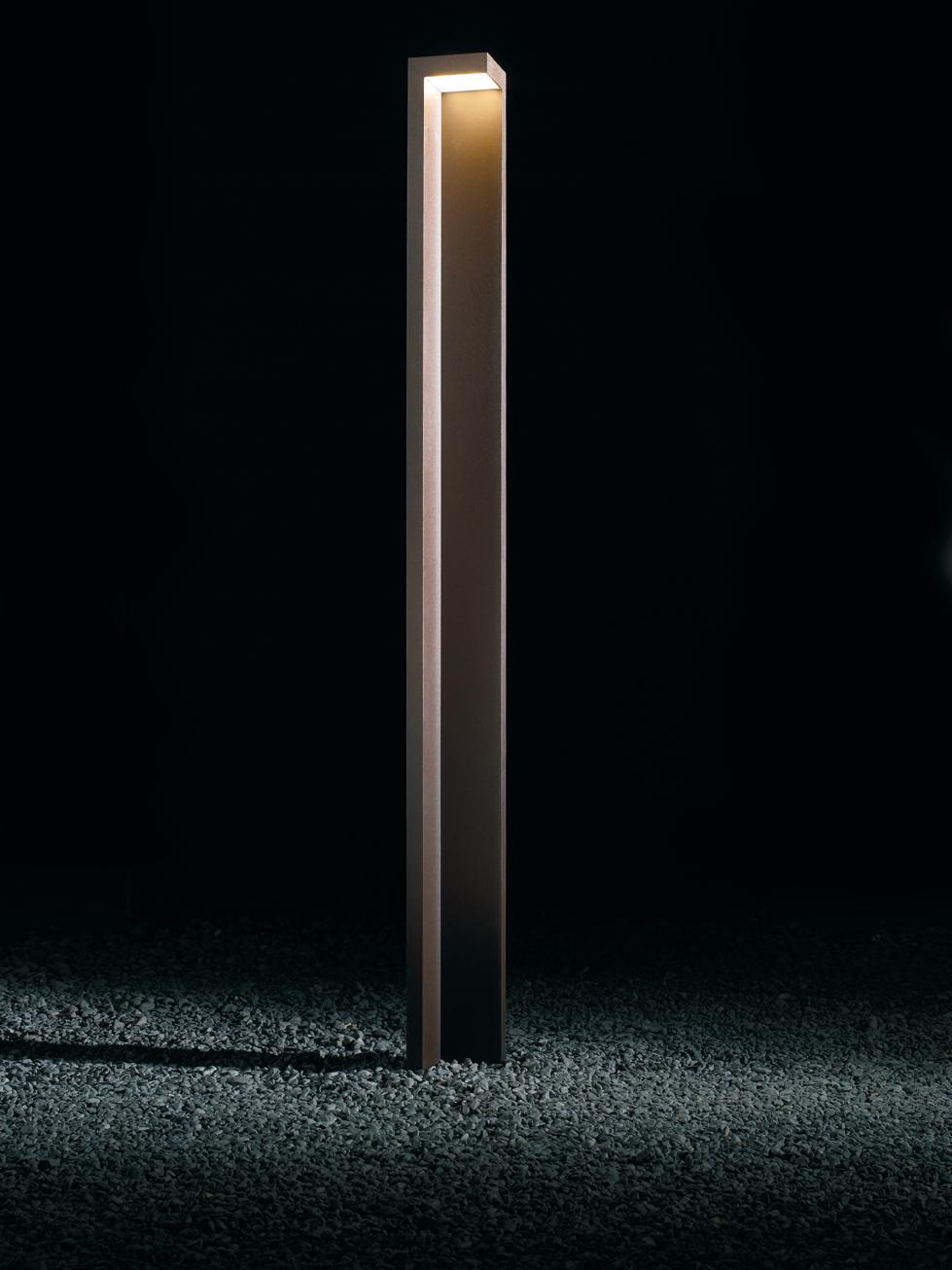 Empty Street lámpara de Pie Exterior 250 Pintura Óxido + kit de Anclaje