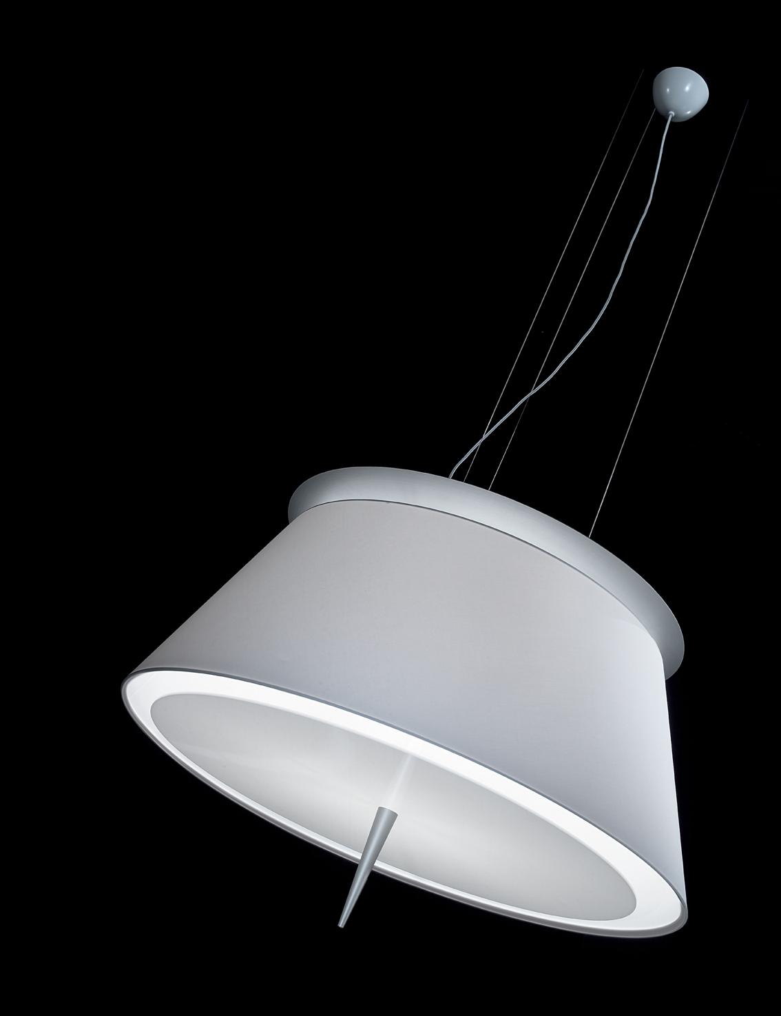 Kumi S Lámpara Colgante Oversize pantalla blanca