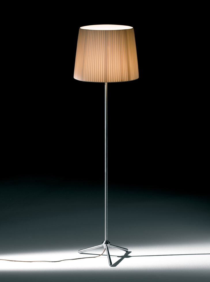 Royal F lámpara of Floor Lamp cable Brown E27 1x150w lampshade Beige