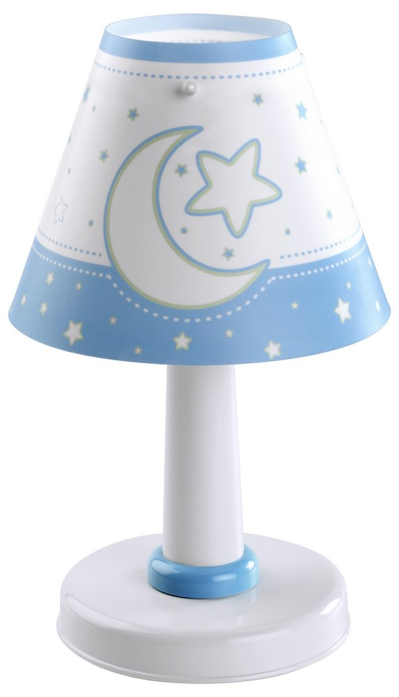 MOON light Blue Lamp childish Table Lamp