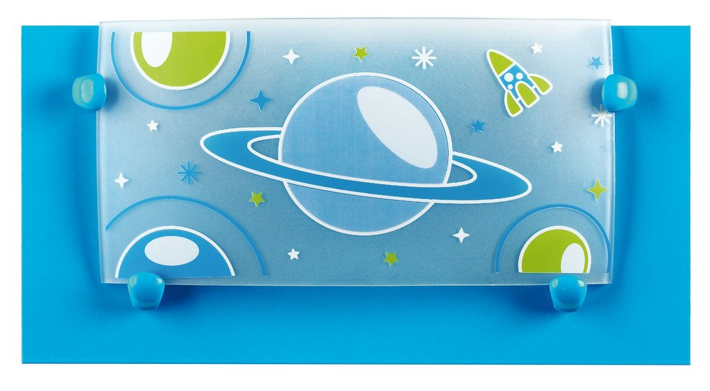 PLANET Blue Lamp childish Wall Lamp