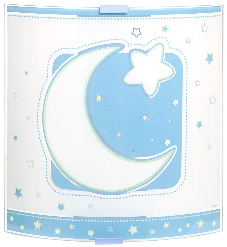 LUNA Blue Lamp childish Wall Lamp