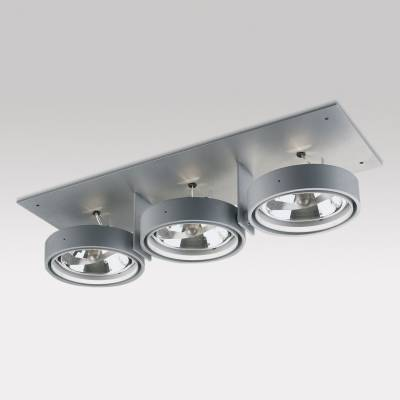 Grid IN ZPilas 3 QR Frames Recessed 3xG53 100w Aluminium