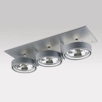 Grid IN ZPilas 3 QR Frames Empotrables 3xG53 100w Aluminio