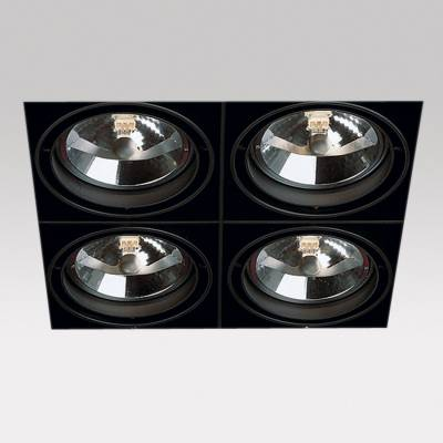 Grid IN Trimless 4 QR Frames Empotrables 4xG53 100w negro