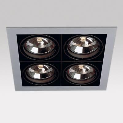 Grid IN 4 QR Frames Empotrables 4xG53 100w Aluminio Aluminio