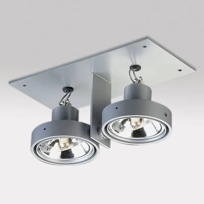Minigrid in ZPilas 2 QR Frames Recessed BA15d 2x50w Aluminium
