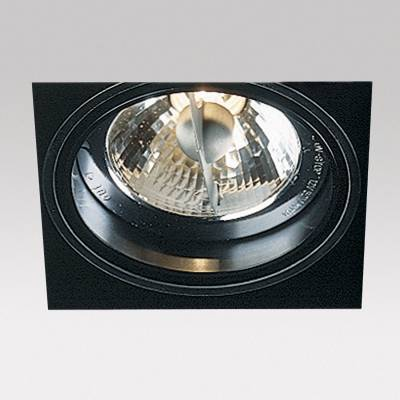 Minigrid in Trimless 1 QR Frames Recessed BA15d 1x50w Black